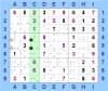 Locked Candidates con candidati bloccati in colonna ed eliminazioni in riquadro (per Sudoku Solving Guide Pages)